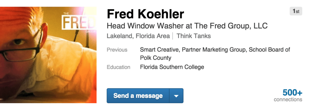 Fred on LinkedIn