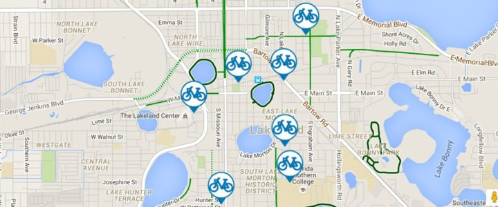 Bike share locations