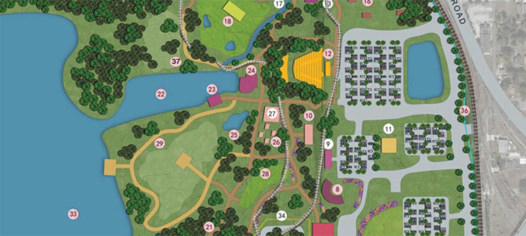 Park sketch detail