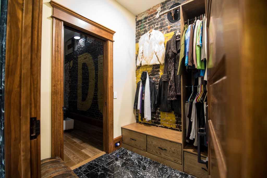 Bull Durham sign in the closet