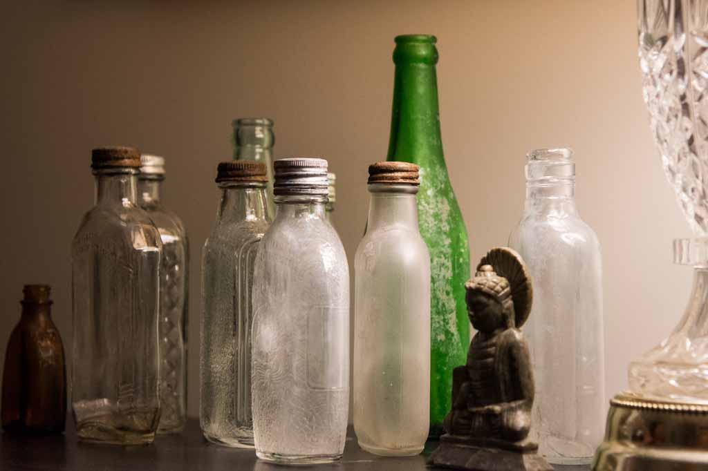 Several bottles were found during renovation