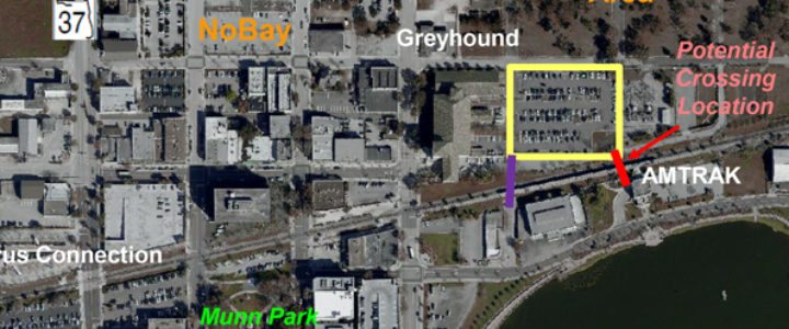 Map: Intermodal facility and overpass locations